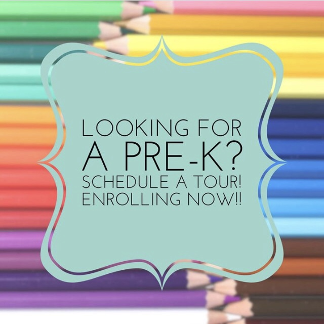 Looking for a Pre-K? Schedule a Tour! Enrolling Now!